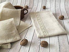 Úžitkový textil - Utierka z ľanového plátna - 8569132_
