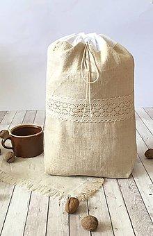 Úžitkový textil - Podšité vrecúško na chlieb 3v1 - 8570634_