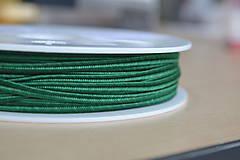 Galantéria - Šujtášová šnúrka pikant zelená 3mm, 0.25€/meter - 8570345_