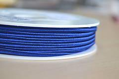 Galantéria - Šujtášová šnúrka parížska modrá 3mm, 0.25€/meter - 8570362_