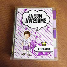 """Papiernictvo - Ja som awesome ,,všetkozošit"""" (pásiky - športovec) - 8570154_"""