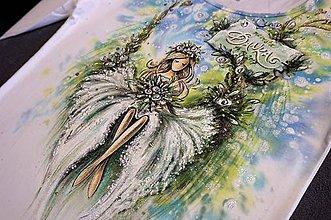 Tričká - lesná víla - rozlúčkové tričko pre nevestu - 8575465_