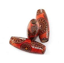 Korálky - Drevené korálky Keltic, 8x23mm - 8574893_