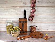 Pomôcky - Set - stojan na nože, lopár - 8573407_
