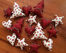 Dekorácie - Vianočné ozdoby - červeno zlaté Vianoce - 8575007_
