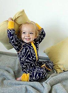 Detské oblečenie - Rastúci overal - merino vlna (veľ. 62-80/86cm(3-12/18m) – 32 farieb) - 8574395_