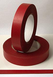 Papier - Chrbátová páska 50m - šírka 25mm - červená - 8576425_