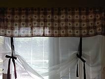 Úžitkový textil - záclonka srdiečková š.190 - 8574864_