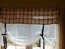 Úžitkový textil - záclonka srdiečková š.190 - 8574865_