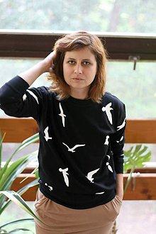 Mikiny - Mikina Čajky (čierna) - 8574106_