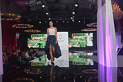 Sukne - Zavinovacia sukňa LEONA - modrotlač - 8573410_