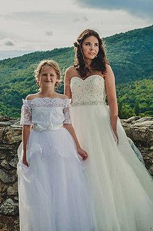 Detské oblečenie - Krajkové šaty NATÁLKA - 8576154_