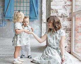 Detské súpravy - Rodinné oblečenie mama a dcéra. Vhodné pre dojčiace mamičky - 8574627_