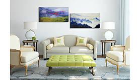 Obrazy - Na samote - olejomaľba na dreve - 8574039_