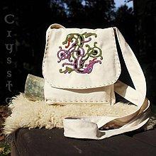 Iné tašky - Taštička cez plece Draci, ručne vyšívaná - 8576327_