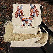 Iné tašky - Taštička cez plece Viking, ručne vyšívaná - 8576349_