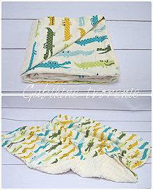 Úžitkový textil - Minky deka krokodíl - 8575724_