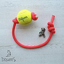Pre zvieratká - Preťahovacia hračka pre psa - loptička na lane - 8575357_