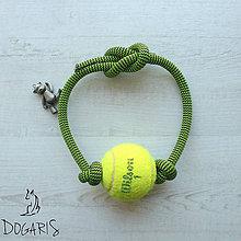 Pre zvieratká - Preťahovacia hračka pre psa - loptička na lane - 8575470_