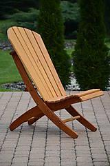 Nábytok - Zahradné drevené  kreslo Adirondack - 8576064_