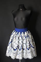 Sukne - Spoločenská sukňa so vzorom rôzne farby - 8574694_