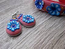 Sady šperkov - Kvietková marhulovo ružová sada č.1290 - 8575318_