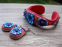 Sady šperkov - Kvietková marhulovo ružová sada č.1290 - 8575319_