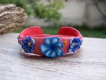 Sady šperkov - Kvietková marhulovo ružová sada č.1290 - 8575323_