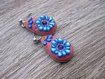 Sady šperkov - Kvietková marhulovo ružová sada č.1290 - 8575327_
