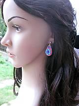 Sady šperkov - Kvietková marhulovo ružová sada č.1290 - 8575331_