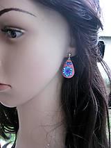 Sady šperkov - Kvietková marhulovo ružová sada č.1290 - 8575332_