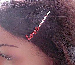 Ozdoby do vlasov - Sponka s nápisom - 8573239_