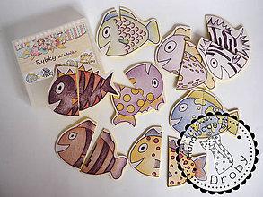 Hračky - rybky skladačka - 8576279_