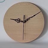 Polotovary - Okrúhle hodiny 20 cm so strojčekom - 8574843_