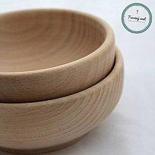 Polotovary - Drevená miska okrúhla malá 14 cm - 8574629_