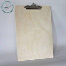Polotovary - Podkladová doska na písanie A4 clipboard - 8574709_
