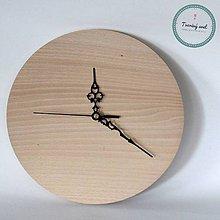 Polotovary - Okrúhle hodiny 25 cm so strojčekom - 8574850_