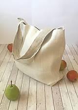 Nákupné tašky - Taška z hrubého ručne tkaného ľanu - 8575254_