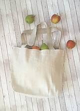 Nákupné tašky - Taška z hrubého ručne tkaného ľanu - 8575256_