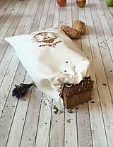 Úžitkový textil - Podšité vrecko na chlebík  (50x30cm - Hnedá) - 8575573_