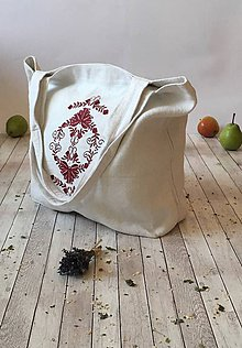 Nákupné tašky - Taška z ručne tkaného ľanu - 8575056_