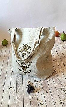 Nákupné tašky - Taška z hrubého ľanového plátna - 8575383_