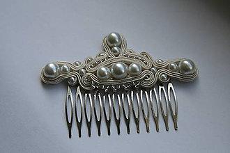 Iné šperky - Hrebienok na svadbu - 8575747_