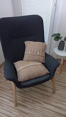 Úžitkový textil - Pletená obliečka na vanķúš - 45 x 45 cm - 8575892_