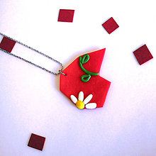 Náhrdelníky - Črepiny prinášajú šťastie (vášnivý kvet) - 8575097_