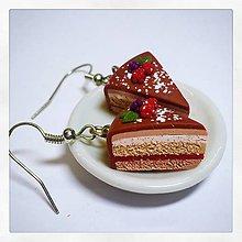 Náušnice - Náušnice dortíky z lesním ovocem - 8580575_