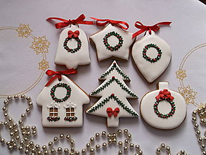 Dekorácie - sada vianočných medovníkov - 8579262_