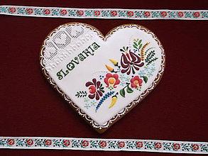 Dekorácie - veľké medovníkové srdce-Slovakia - 8579395_