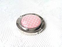 Drobnosti - Retro bag holder (light pink/mini white dots) - 8578618_