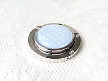 Drobnosti - Retro bag holder (baby blue/mini white dots) - 8578628_